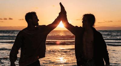 Article thumbnail - 2 dudes high five