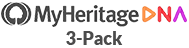 MyHeritage 3pack Logo